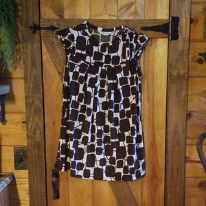 Tops - Geometric design with front and back gathers